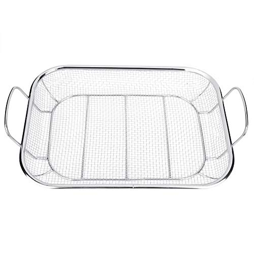 - Wifehelper Stainless Steel BBQ Grill Basket Barbecue Mesh Grilling Tray Grill Pan Net for Meat Fish Vegetable Shrimp Seafood