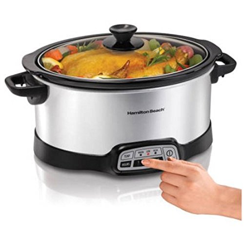 Programmable 5-Quart Slow Cooker Stainless Steel
