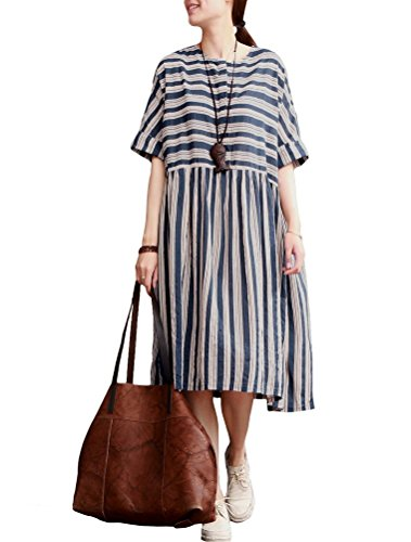 MatchLife - Vestido - vestido - para mujer Style2-Blue