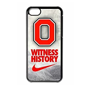 DIY Dream 8 Sports NCAA Ohio State Buckeyes Print Black Case With Hard Shell For HTC One M9 Case Cover -Just DO It