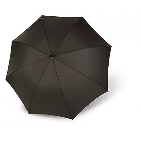 Paraguas Largo Apertura automática. Puño simil Piel. Paraguas Vogue Liso Marrón Chocolate