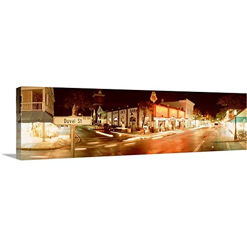 (GREATBIGCANVAS Gallery-Wrapped Canvas Entitled Florida, Key West, Duval Street, Sloppy Joe's Bar by 90