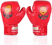 Kids Boxing Gloves,Youth Sparring Punching Training Gloves for Age 3-12 Years ( Color : Red )