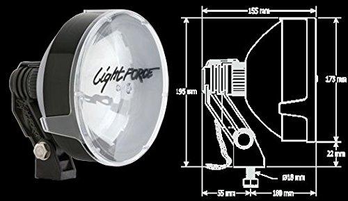 (Lightforce RMDL170HT 12V 100W 170 RMDL High Mount Driving Light - Twin)