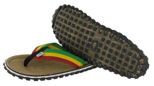 Bob Marley Fresco Mens Flip Flops Sandaler Rasta Utskriftsstorlek 11
