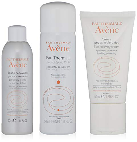 (Eau Thermale Avene Hypersensitive Skin Regimen Kit for Sensitive and Irritated Skin)