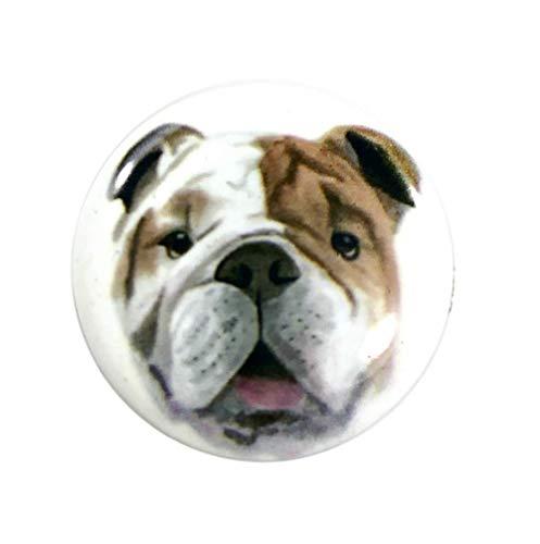 Snap Charm Dog Painted Enamel 20mm 3/4