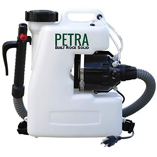 Petra Electric Fogger Atomizer Backpack Sprayer - 4 Gallon Mist Blower with Extended Commercial Hose for Pest Control – Insect, Bug & Mosquito Fogger (with Premium Comfortable Straps)