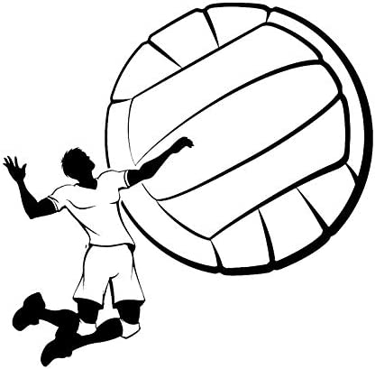 wangpdp Vinilo de Pared de Deportes Etiqueta de Voleibol Juego de ...