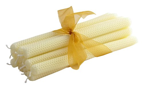 ArtisanStreet's 16-inch Hand-Rolled Beeswax Honeycomb Tapers. Set of 12. Limited Edition. Dripless. (Artisanstreets Set)