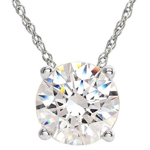3/8 Ct Floating Diamond Solitaire Pendant in 14k White Gold ()