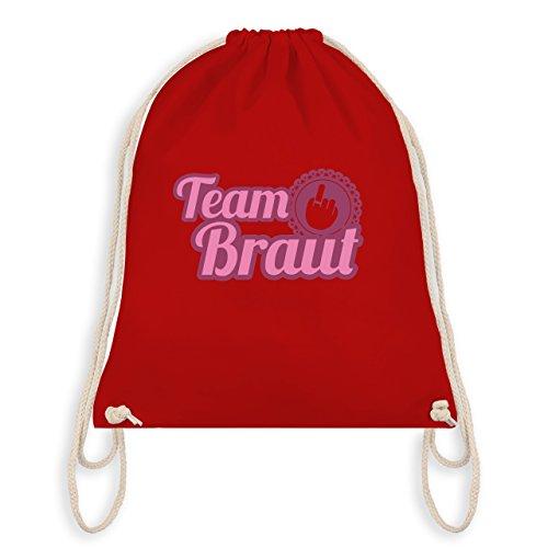 Shirtracer JGA Junggesellinnenabschied - Ringfinger Team Braut - Turnbeutel I Gym Bag Rot
