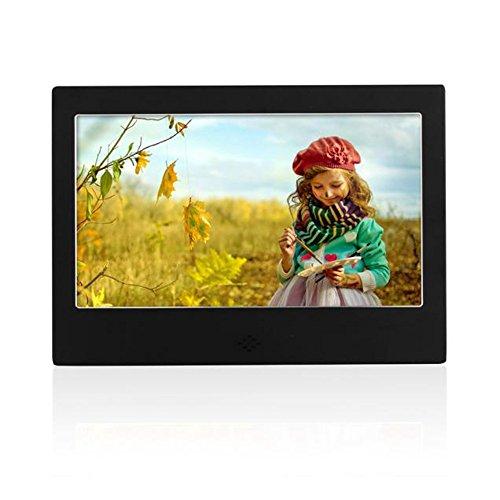 Celendi 7 Inch Digital Photo & HD Video (720p) Frame with 800x480 Hi-Res LED Display&Remote Control&Calendar/Clock (Black)