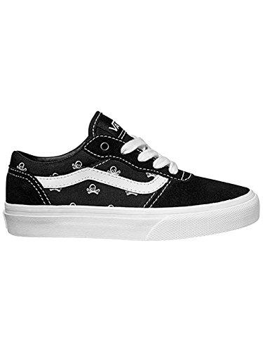 VansY MILTON SKULLS - Zapatillas de Deporte Niños-Niñas Negro - (f15 skulls) black/white/noir