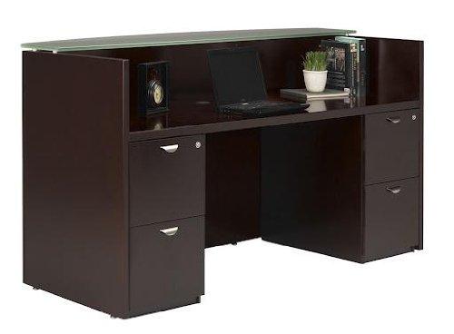 Mira Reception Station with 2 File Pedestals Finish: Espresso