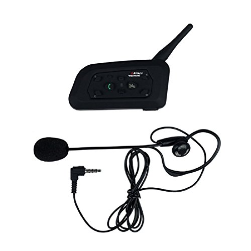 ESTGOUK V6C Intercom Bluetooth 1200 Meter,Support Maximum pour 6 Personnes, pour Arbitre/Mariage,Set de 1