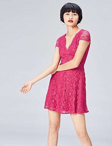 FIND Vestido de Vuelo de Encaje para Mujer Rosa (Fushia)