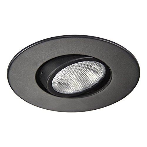 Eco Lighting NY HV5004BK 5-Inch Line Voltage Trim Recessed Light fit Halo/Juno, Adjustable Gimbal Ring Trim, All Black