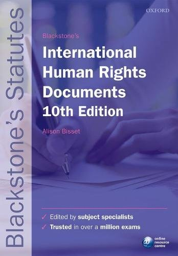 Blackstone's International Human Rights Documents (Blackstone's Statute Series) ()