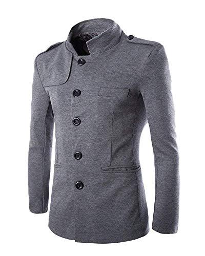 Blazer Hommes Tunique Costume Loisir Confortable Battercake Décontractée Slim Outwear Fit Veste Affaires Grau HRqtfnwWUn