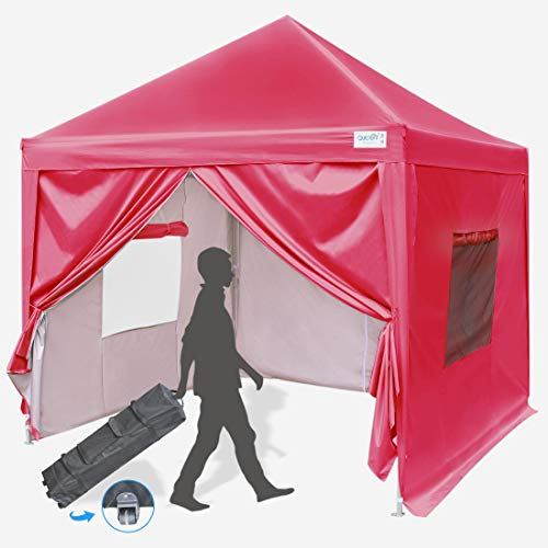 Quictent Privacy 10x10 EZ Pop Up Canopy Party Tent Folding Gazebo with Sidewalls Waterproof ()