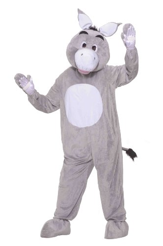 Forum Novelties Men's Plush Donkey Mascot Costume, Multi, Standard (Mascot Costumes For Sale)