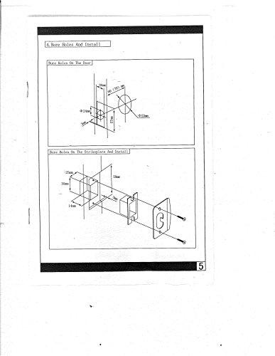 Electronic Keyless Door Lock Set Satin Nickel For Right