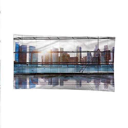 Moderntapestrywall tapestryFuturistic Metropolitan 72W x 54L Inch