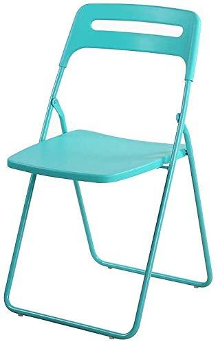 HAHEZDY Silla Plegable De Plastico con Marco De Metal Revestido De Polvo, Azul Tiffany