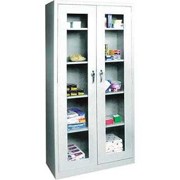 Amazon.com: Sandusky Lee Welded Steel Storage Cabinet - Clear View ...