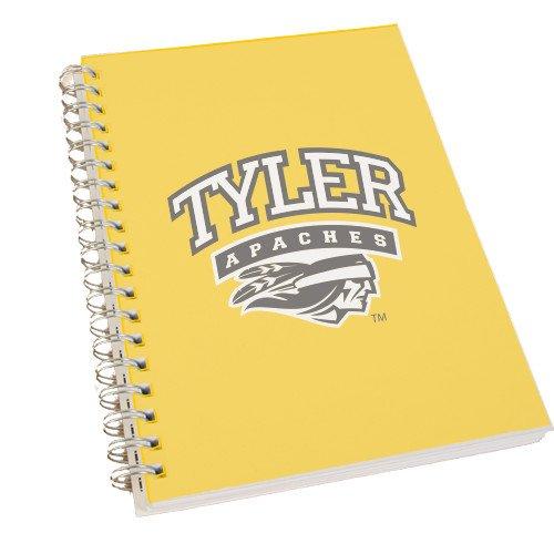 Tyler Junior College Clear 7 x 10 Spiral Journal Notebook 'Official Logo' by CollegeFanGear