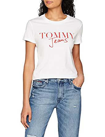 Tommy Hilfiger T-shirt for women in White, Size:Large