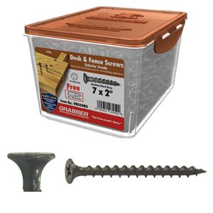 Grabber 7 x 2 coarse exterior deck fence - Exterior wood screws for fencing ...