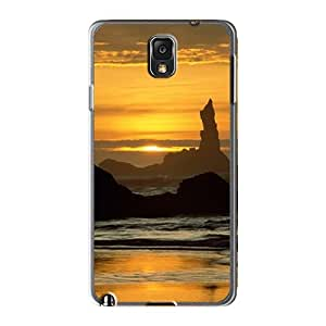 Durable Defender Case For Galaxy Note3 Tpu Cover(coquilla Point Oregon Islands National Wildlife Refuge Oregon)
