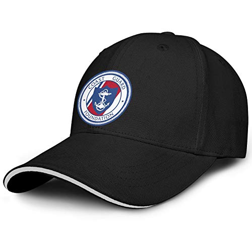 Coast Guard Foundation Brim Baseball Sandwich Snapback Hats for Adult