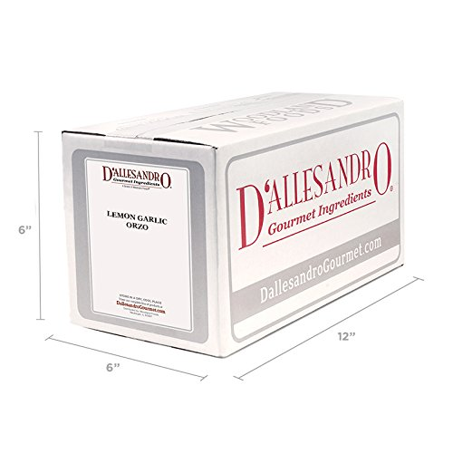 Lemon Garlic Orzo Pasta - 10 Lb Case by D'allesandro