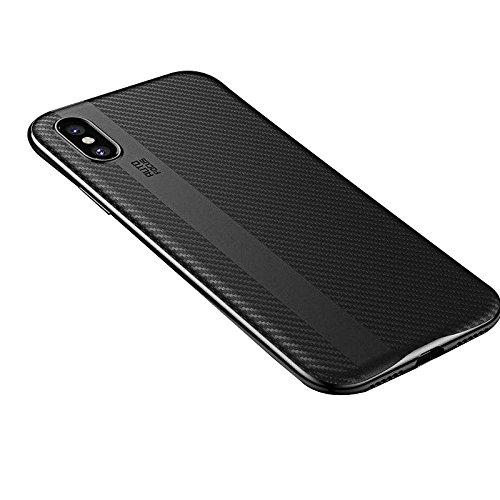 huge discount a42d1 dcbe1 Amazon.com: ReVolt ArmourX iPhone X Premium Case with Carbon Fibre ...