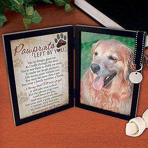 pawprints left by you pet memorial frame - Dog Memorial Picture Frames