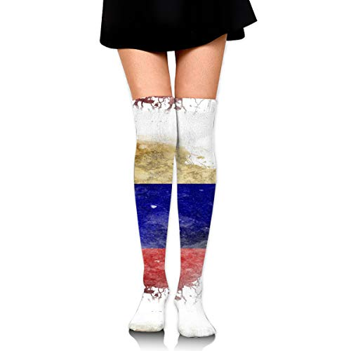 Guoxichangtuiwa Colombian Territory and Flag Women's Girl's Breathable Cotton Comfortable Fashion Over The Knee High Leg Athletic Thigh Highs Socks,Cosplay Socks]()