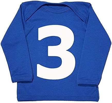 I Am 3 azul Cute tercer cumpleaños camiseta para niños, 3 ...