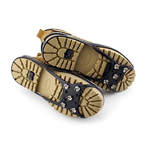 negro Snow Grips 5 Shoes A Xl La Antideslizantes Ice Tracción Vorcool Traction Dientes Size Manganeso Creepers Resistencia Acero De Alta Cleats EqxRtp