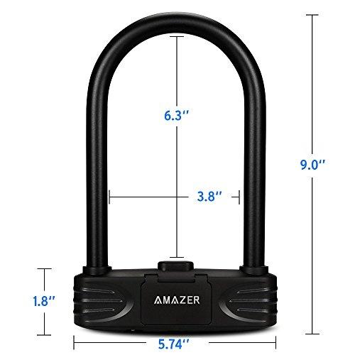 Amazer Heavy Duty Combination Bike U Lock, 12mm Bike Lock Bicycle Heavy Duty Combination U Lock Bike Lock Anti Theft by Amazer (Image #4)