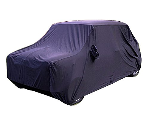 Custom-fit Indoor Car Cover for Austin Mini - Classic Sedan/Saloon Body Style - 1959 to 2000 - Luxury Fabric with Soft Fleece Base Layer