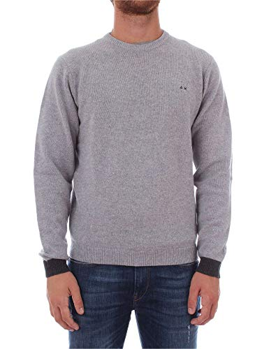 Homme SUN68 K28119 Gris Clair Maille ZqqawEf7v