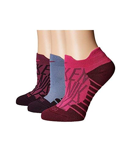 Nike Women`s Dry Cushion Graphic Low Training Socks (3 Pair) (Nike Bardo (SX5735-913) / Pink/Cool Grey, Medium)