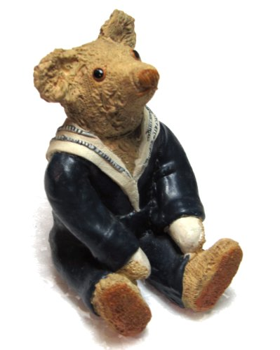 Jack Centimental Teddy Blue Sailor Suit Bear Figurine By Peter Fagan - 122416 (Bear Teddy Resin)