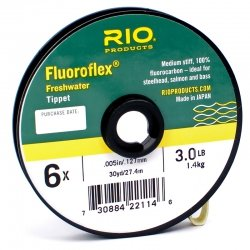 Rio Fly Fishing Tippet Freshwater Tippet 30yd 5X Fishing Tackle, Clear