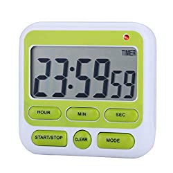 Zealforth Digital Kitchen Countdown Timer Clock 24 Hours Large Display Count Down Magnetic Timer with Alarm, On/Off