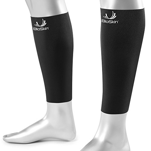 BioSkin Calf Sleeve - Compression Calf Sleeves - Medical Grade Compression - Hypoalergenic - Breathable - Large (Pair)