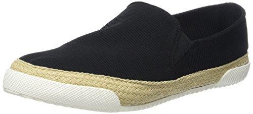 Brown Black Fabric Elastic 215 9749 Black 01 Women's Loafers Buffalo 2 zfFaqf